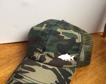 Distressed Camouflage Carp Hat