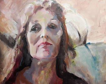 Portrait 2, acrylic on canvas panel