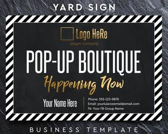Lula Yard Sign 18x27, Lula Pop-Up Boutique Banner, Chalkboard Yard Sign, Lula marketing, retailer & consultant, Custom Banner, Yard Sign #4