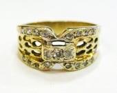 14K Diamond Lace Ring - X...