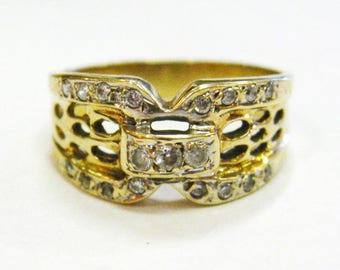 14K Diamond Lace Ring - X2785