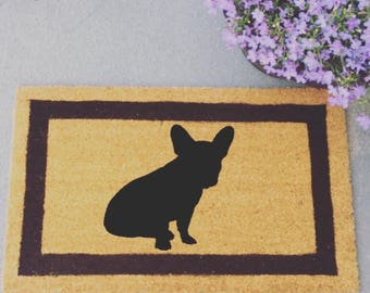 French bulldog silhouette doormat