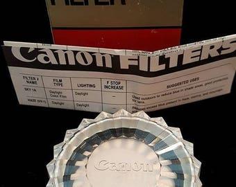 canon filter, camera lens filter 58mm  sky 1-A