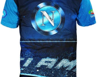 New ultramodern 3D  High Quality  Print Fans Short Sleeve t-shirt Napoli