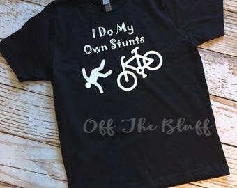 I Do All My Own Stunts Kid Shirt