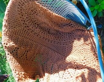 Afghan Throw - Chestnut Brown