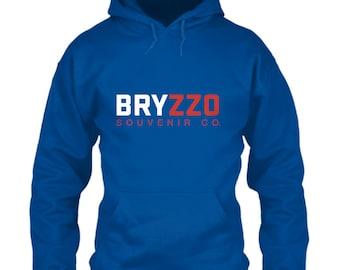 Chicago Cubs Hoodie BRYZZO Souvenir Co. Blue Size S M L XL 2XL 3XL 4XL 5XL Kris Bryant Anthony Rizzo Company Wrigley Field 2016 World Series