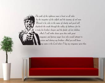 Pulp Fiction Quote, Bedroom, Lounge, Living Room, Decor, Decal, Sticker, Wallart