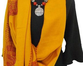 Pashmina Shawl ( thread embroidery), Cashmere Pashmina shawls, Cashmere scarfs