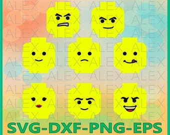 70% OFF, Lego Minifig Head Svg, Lego Minifig Head Clipart, Lego png, eps, svg, dxf, Lego Faces Silhouettes,Lego Head Svg, Cut Png File