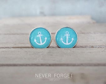 "Stud earrings ""anchored soul""-16 mm/pair"