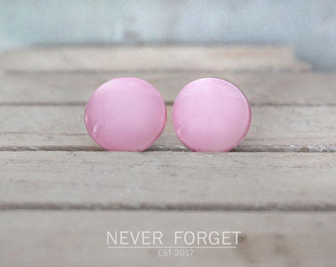 """Featured listing image: Earrings """"old Pink Pearl '-20 mm / pair"""