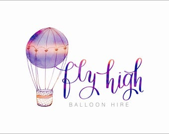Premade Logo Design, Party Logo, Baloon Flight Logo Design, Business Logo