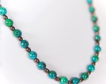 Amazon Green Beaded Necklace | IYS Summer Jewelry Collection