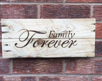 Family wall sign - family forever