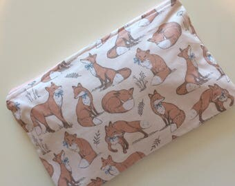 Fox Storage Pouch/ Cosmetic bag