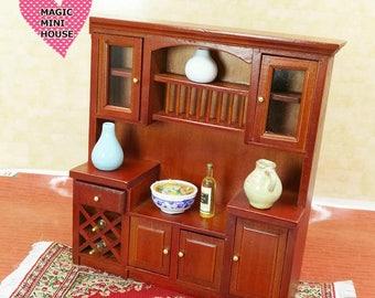 Dolls house miniature kitchen cabinet