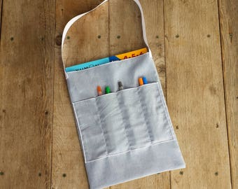 art bag, homeowork bag, homeschool bag, creative child's gift,