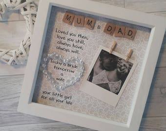 Mother Of The Bride Gift, Father Of The Bride Gift, Wedding Gift For Mum and Dad, Bridal Gifts, Wedding Gift Parents, MIL wedding Gift