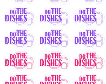 Do The Dishes // Diary // Planner // Stickers