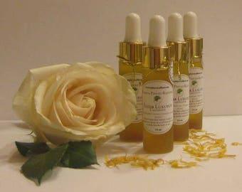 Luxurious Elixir, the ANTIDOTE anti-wrinkle, Rose and Marula, all skin types.