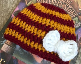 Baby Girl Harry Potter Newborn Photo Prop Hat  Harry Potter Baby Shower Gift - Gryffindor Baby Hat Slytherin Baby Hat - Harry Potter costume