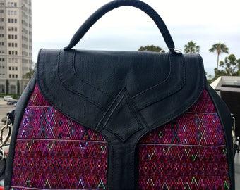 Guatemala hand woven huipil purse