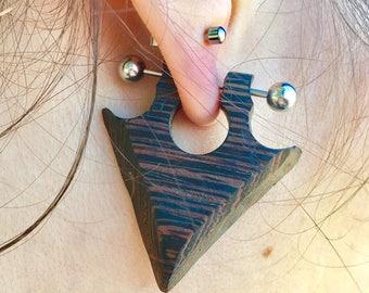 Wenge Wood Earrings