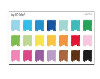 Planner Stickers Flags