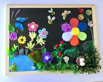 Sensory Textures Board, ' The Enchanted Garden'.