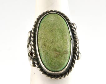 Turquoise Ring, Native American, Size 5.5, Navajo, Vintage Ring