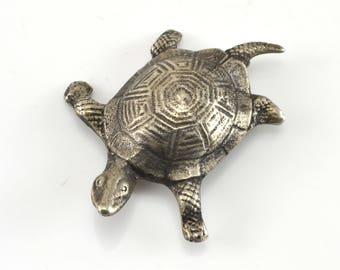 Turtle Brooch, Vintage Brooch, Sterling Silver