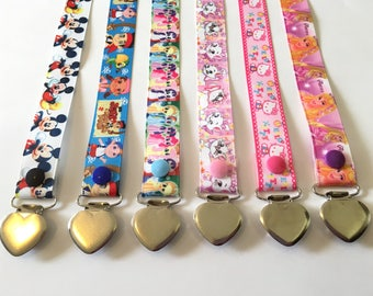 Premade Single Sided Adult Paci Clips ~ little space, abdl, adult baby, ddlg, cgl, mdlb, disney, binkie clips, pacifier clips ~