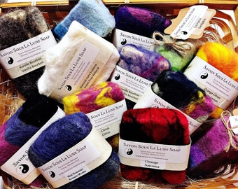 Felted all natural soap bar