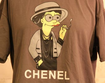 Rare Simpsons Chanel Couture T Shirt