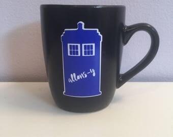 Allons-y Phonebox Coffee Mug