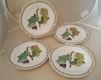 4 Noritake Primachina Royal Orchard Bread Plates