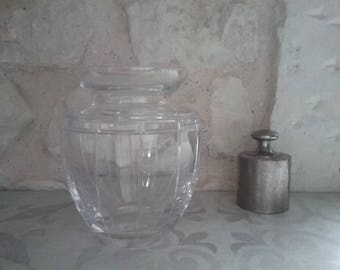 Small round ATLANTIS signed Crystal vase