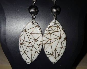 Geographical earrings.