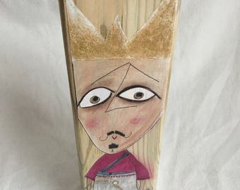 """Prince Alfonso-wooden candle holder 2017 collection """"Strange Princesses of Mo G"""" 31 cm"""