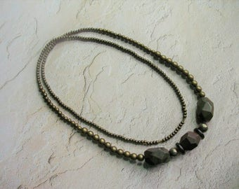 Pyrite Necklace from GraceStoneDesign
