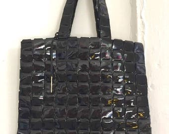 STUNNING vintage GUCCI patent leather handbag made in ITALY