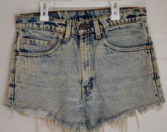 Levi's Vintage High Waisted Acid Wash Shorts