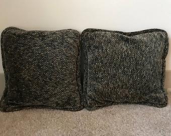 Vintage Green Throw Pillows (2)