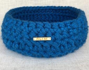 Cosy Cat Bed | Cosy Pet Bed | Cat Basket | Pet Basket | Crochet Cat Bed | Cat Furniture | Dark Blue |