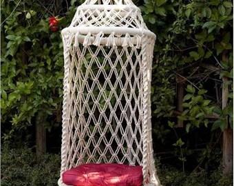 Birdcage Hammock Chair  / Macrame Hanging Chair