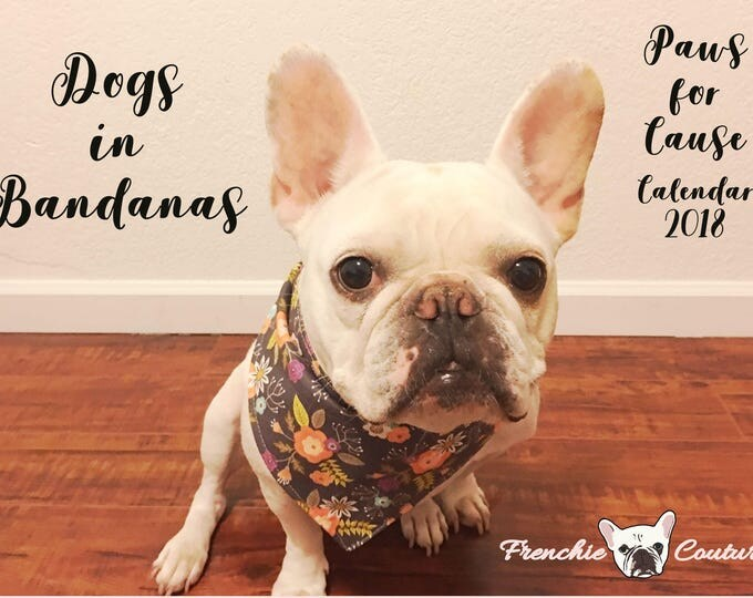 Featured listing image: Dogs in Bandanas 2018 Calendar - Paws for Cause - Proceeds Support German Shepherd Rescue of Northern California