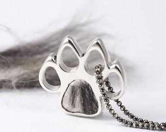 Sterling Silver Pet Ashes Jewelry, Pet Memorial Pendant, Pet Urn, Fur or Hair or Ashes Keepsake / Locket