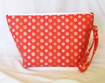 Knitting Project Bag / Crochet Project Bag / Floral Project Bag / Cosmetics Bag / Arts & Crafts Storage / Needlework Project Bag
