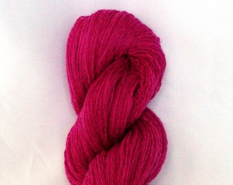 Recycled Silk Cashmere Blend Fine Lace Weight Raspberry Pink Yarn / Silk Blend Yarn / Pink Yarn / Fine Lace Weight Yarn / Silk Cashmere Yarn